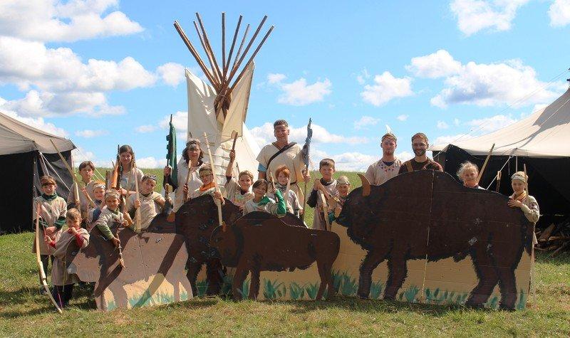 Als Indianer auf Büffeljagd
