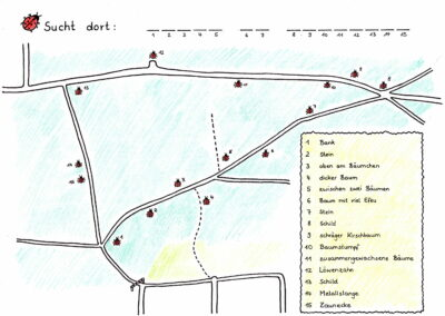 Karte Marienkaefer bunt