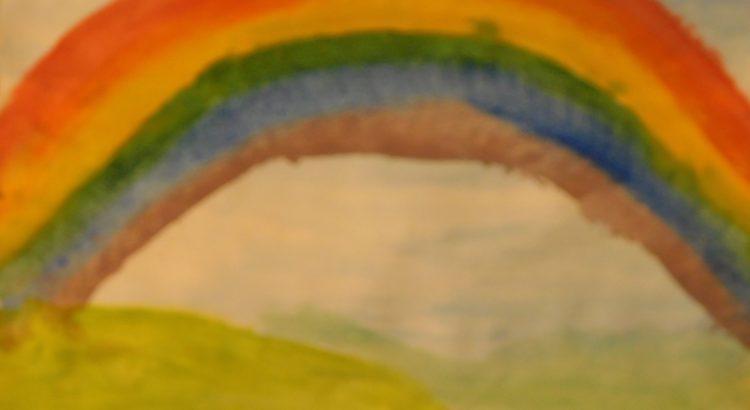 Regenbogen mit Wasserfarben