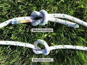 Wichtel Knoten Weber und Brezel