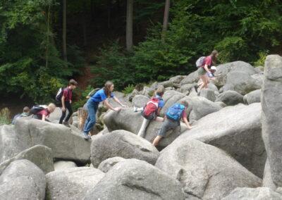 Klettern im Felsenmeer